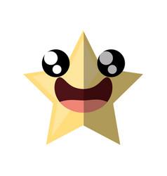 cartoon star ornament birthday shadow vector image