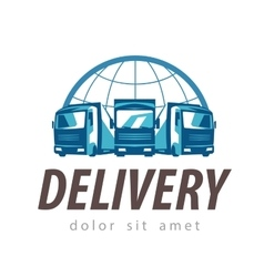 delivery logo design template truck or vector image vector image