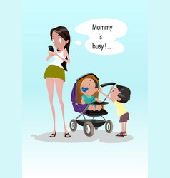 digital funny comic cartoon vector image