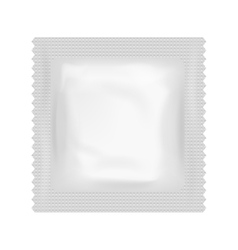 Realistic condom food medicine flow pack isolated vector