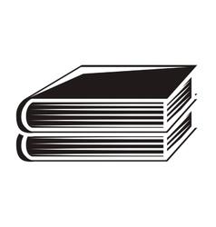 black silhouette pair of books vector image