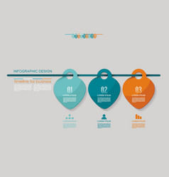infographic design options template timeline vector image vector image