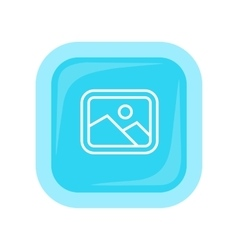 Landscape icon in flat style design vector