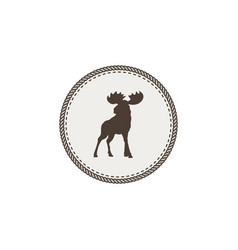 moose icon vector image