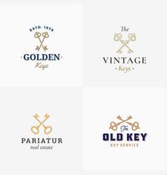retro keys set abstract signs symbols or vector image vector image