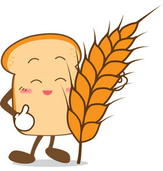 Bread 15 Isolated happy smile Slice of bread vector image vector image