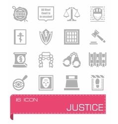 Justice icon set vector image vector image