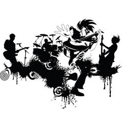 New punk rock graffiti vector image vector image