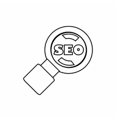 SEO optimization icon outline style vector image vector image