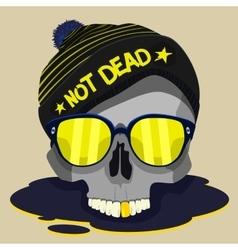 Skull punk star design vector