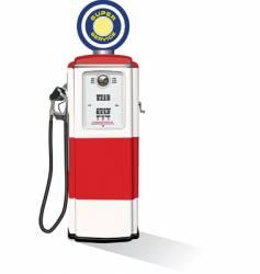 vintage gasoline pump vector image vector image