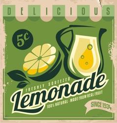 Vintage poster template for lemonade vector image vector image