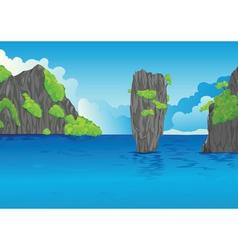 water landscape vector image vector image