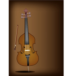 A Beautiful Double Bass on Dark Brown Background vector image vector image