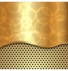abstract gold background with curve and cells vector image