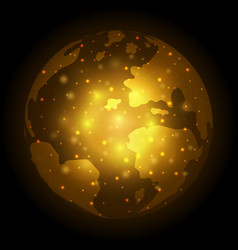 abstract world globe bokeh design vector image