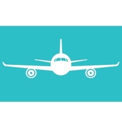 airplane icon Front view flying aircraft vector image