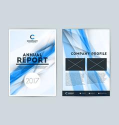 Annual report cover design template flyer design vector