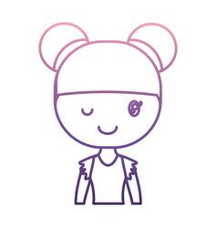 Ballerina girl icon vector