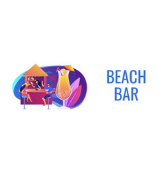 beach bar concept banner header vector image