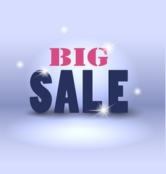 Big sale over abstract background vector