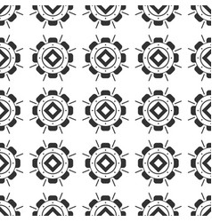 black and white seamless pattern aztec abstract vector image