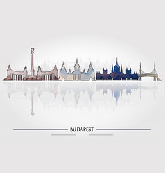 Business travel concept budapest architecture vector