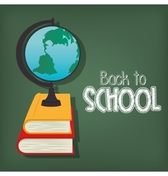 cartoon globe back to school design vector image