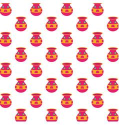 ceramic pots indu decoration pattern vector image