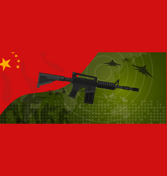 China military power army defense industry war vector