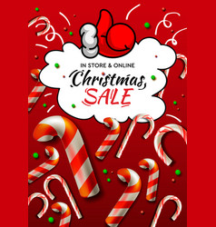 christmas sale banner template with christmas vector image