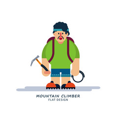 Climber in cartoon style vector