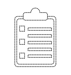 Clipboard with bullets icon image vector