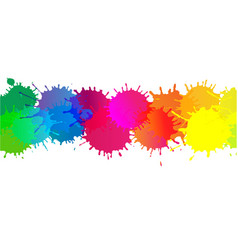 colorful stain border vector image