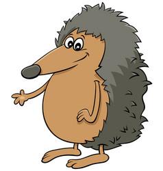 Comic hedgehog cartoon animal character vector
