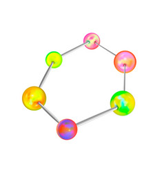 Complicated chemical structure with atomic bonds vector