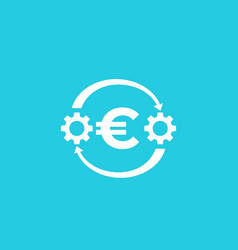 Cost optimization financial icon with euro vector