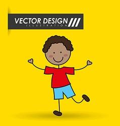 cute kids design vector image