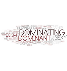 Dominating word cloud concept vector