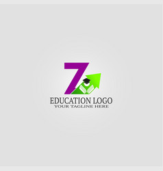 Education logo template with z letter logo vector