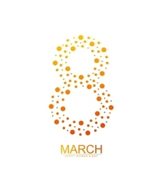 Eight March International Womens Day vector image