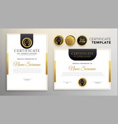 Elegant certificate appreciation modern vector