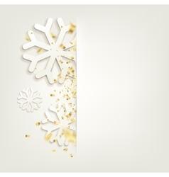 Elegant Christmas backgroundConfetti isolated vector image