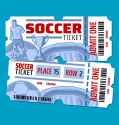 Football soccer championship tickets vector