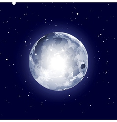 full moon halloween background vector image