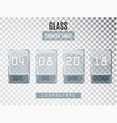 glass counter timer isolated on transparent vector image