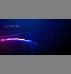 Glowing digital particles background design vector