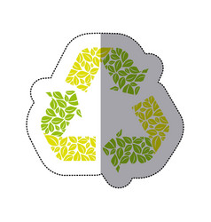 Green symbol reuse reduce and recycle icon vector