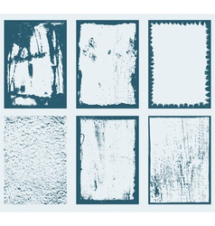 Grunge Frames Textures 1 vector image