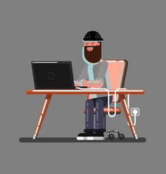 hacker in work vector image